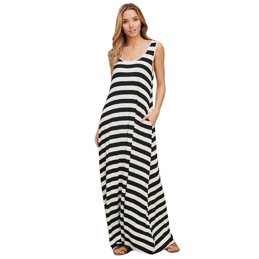 60d4710adc74f Stripe reversible maxi pocket sleeveless black white striped women dress  jpg 826x826 Black and white striped