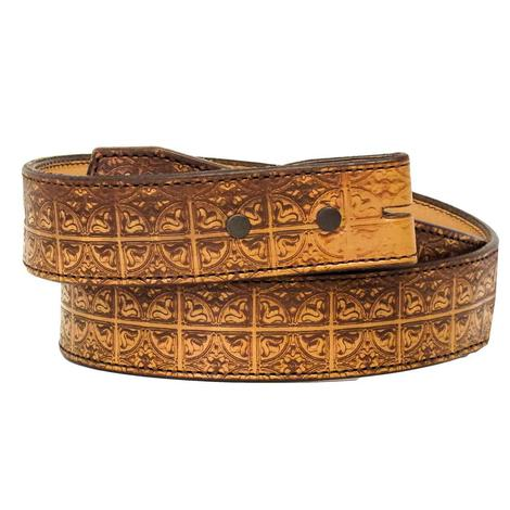 Natural Lasered Men's Leather Belt