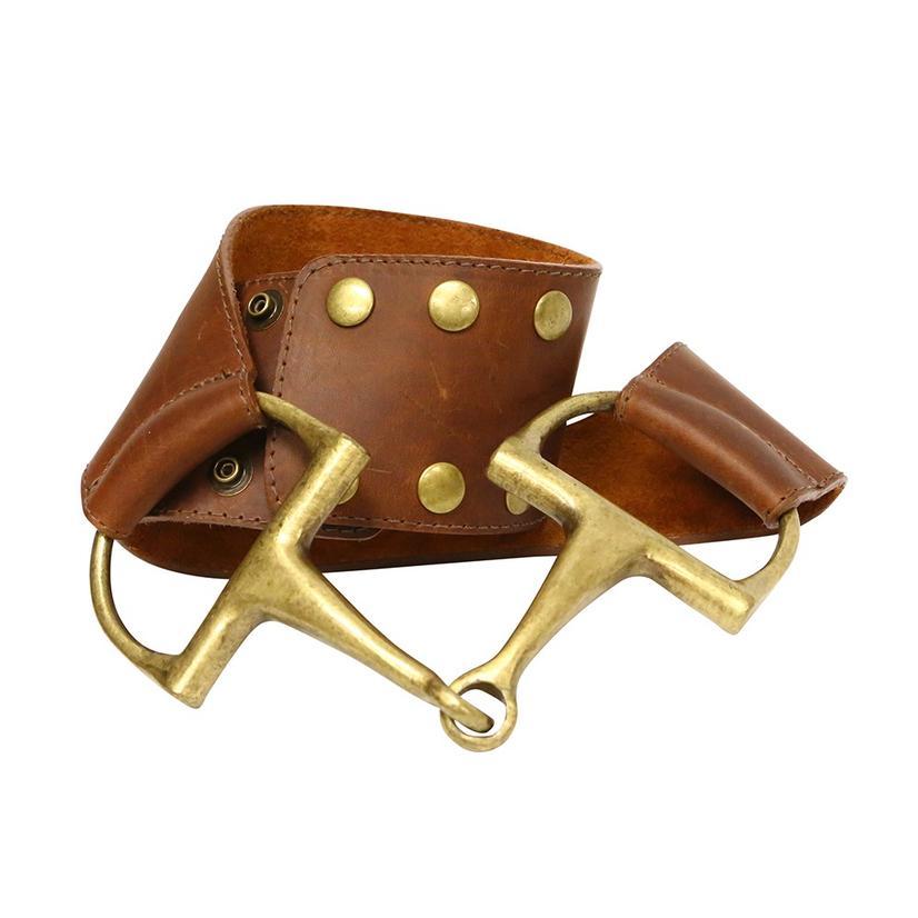 Tasha Polizzi Women's Natural Brown And Brass Bit Belt