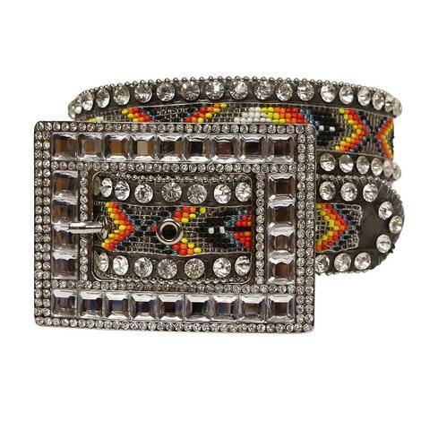 Nocona Rainbow Bead with Rhinestones Women's Belt