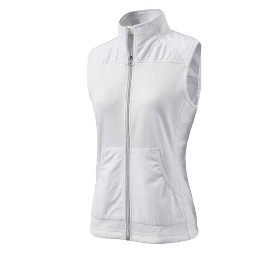 Breeze Zip Women's Vest - Black or White WHITE