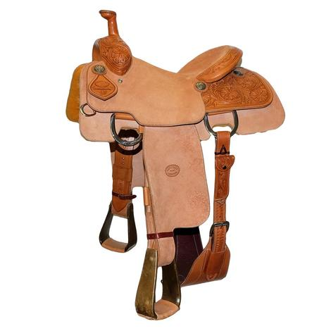 STT Half Breed Floral Team Roper Saddle