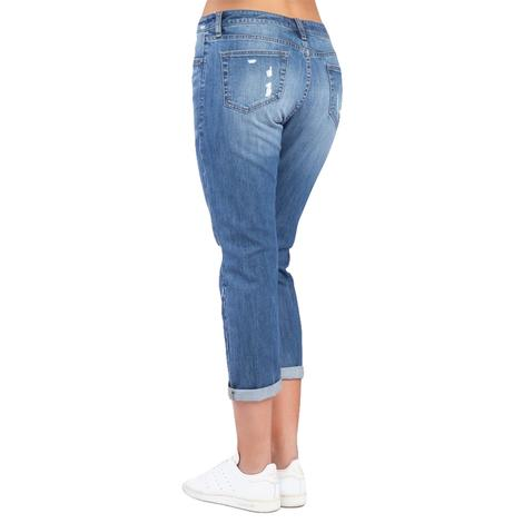 Madison Girlfriend Jean in Moonstone Denim