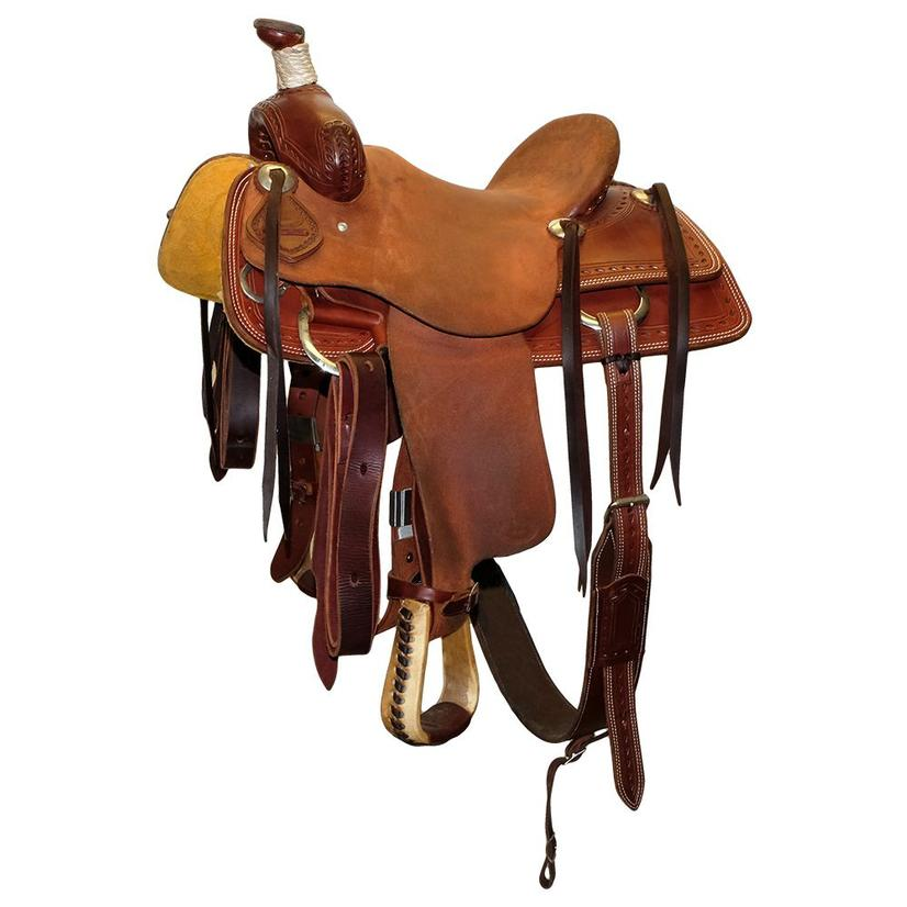 Stt Youth Half Roughout Half Slickout 13inch Used Saddle