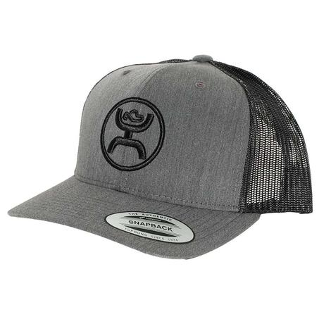 815ea3a9bd1 Hooey Classic Grey and Black Meshback Circle Logo Cap