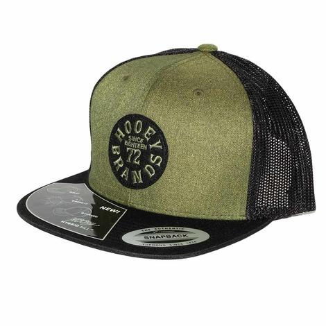 Hooey Brands Embroidered Green and Black Meshback Cap