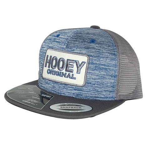 Hooey Heather Blue and Grey Meshback Original Patch Cap