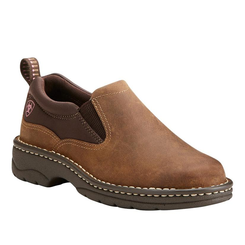 Ariat Traverse Distressed Brown Slipon Women's Shoes
