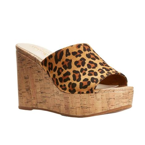 05256663aeb0 Ariat Unbridled Leopard Suede Wedge Women s Shoes ...