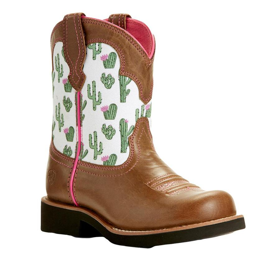 Ariat Fatbaby Brown And Cactus Print Boot - Kid And Youth Sizes