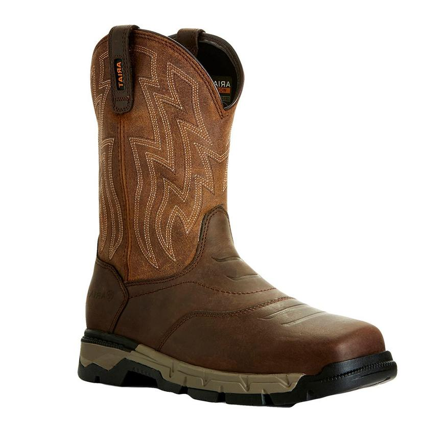 Ariat Brown Rebar Flex Western 10inch Soft Toe Men's Boots