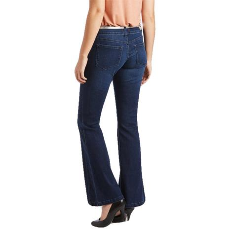 Dear John Denim Rosie Rocket Flare Dark Denim Wash Women's Jeans