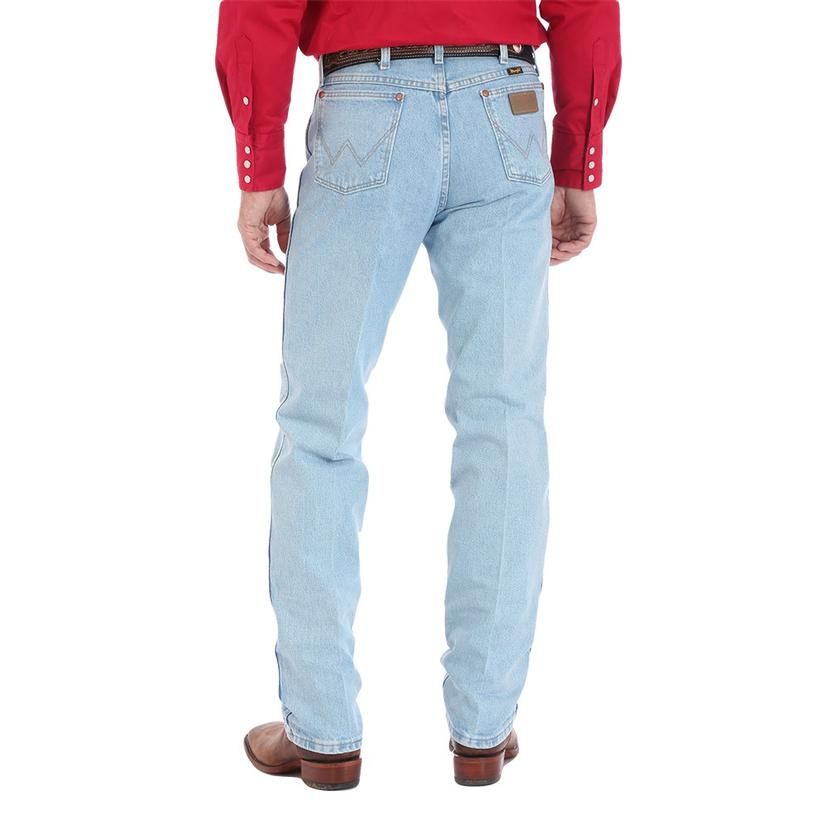 hot-selling newest hot-selling cheap fashionable and attractive package Wrangler Cowboy Cut Original Fit Light Wash Mens Jeans