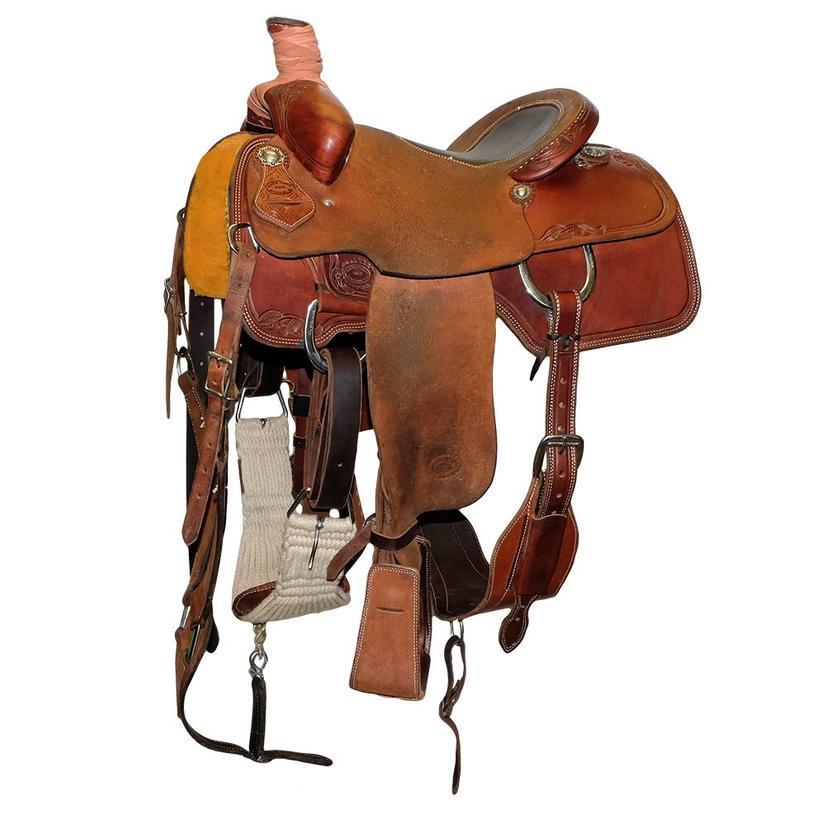Stt Team Roping 14.5 Inch Used Bullhide Saddle