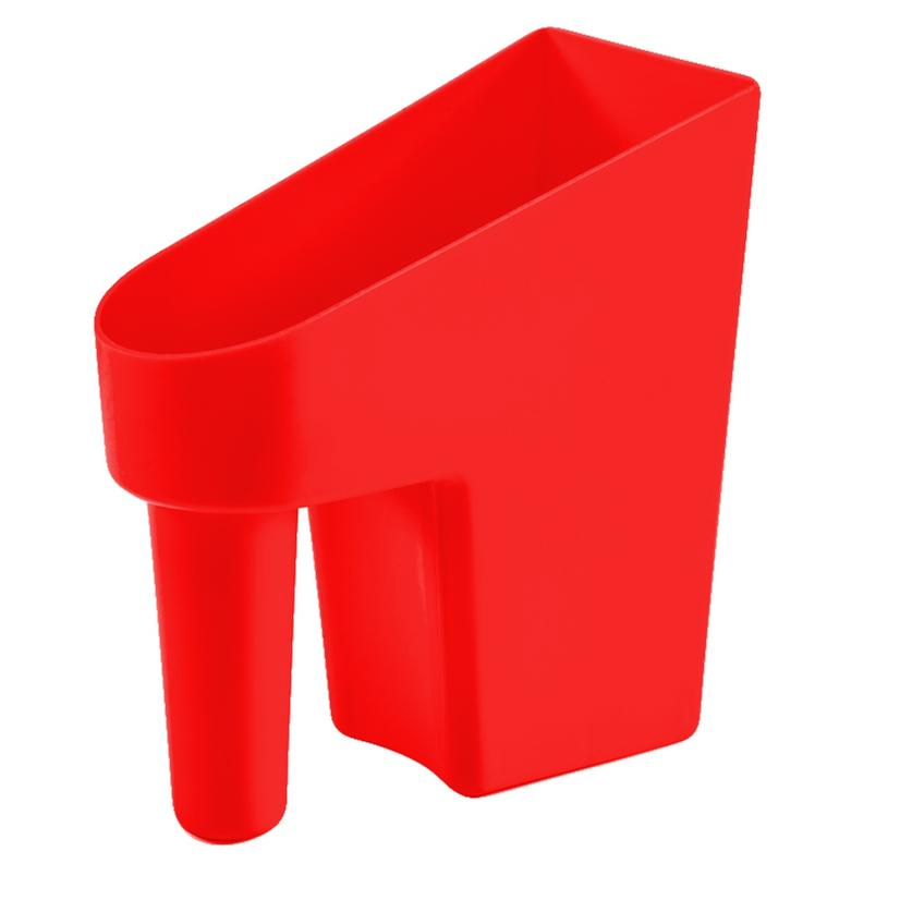 Feed Scoop 1 Quart Assorted Colors RED