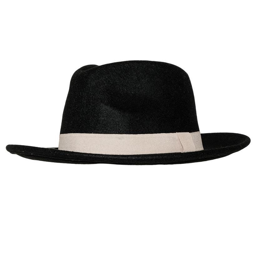 Stt Wild Bill Felt Hat - Black With White Band