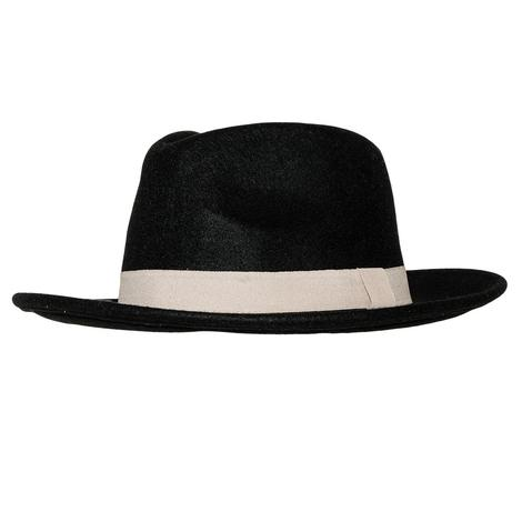 STT Wild Bill Felt Hat - Black with White Band