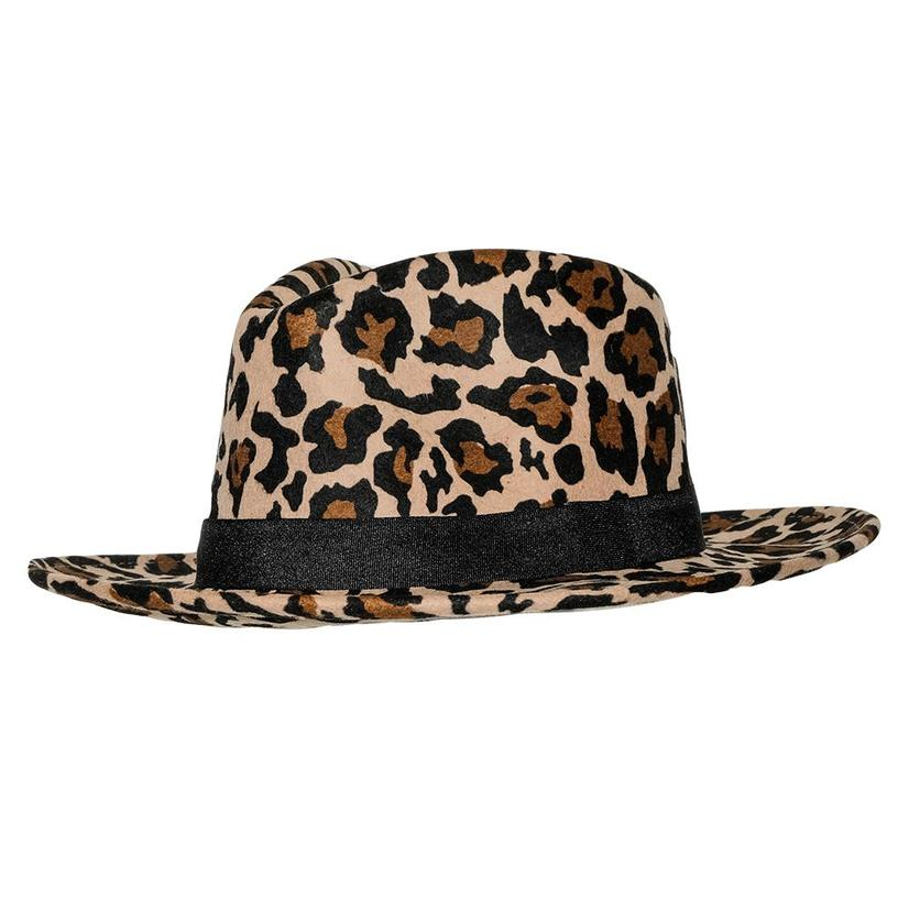 Stt The Wild Bill Felt Hat - Leopard