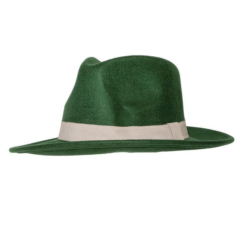 Stt Wild Bill Felt Hat - Olive Green