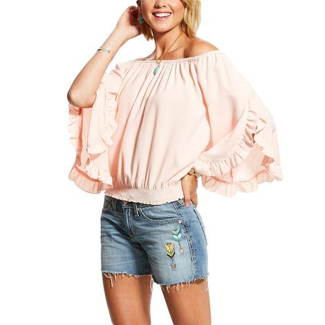 Ariat Peach Off the Shoulder Women's Top