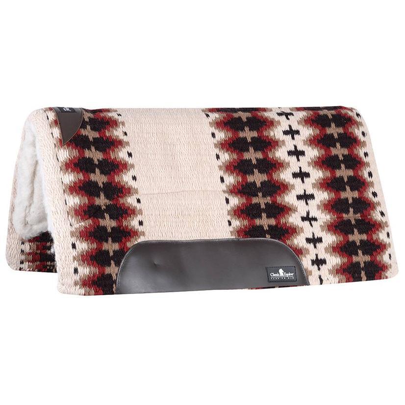 Classic Equine Sensorflex Fleece Lined Wool Top Saddle Pad 34x38 - Cream Chocolate or Sand Navy CREAM/CHOCOLATE