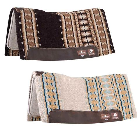 Classic Equine ZONE Wool Top Pad 32x34 - Chocolate Tan or Ivory Seafoam