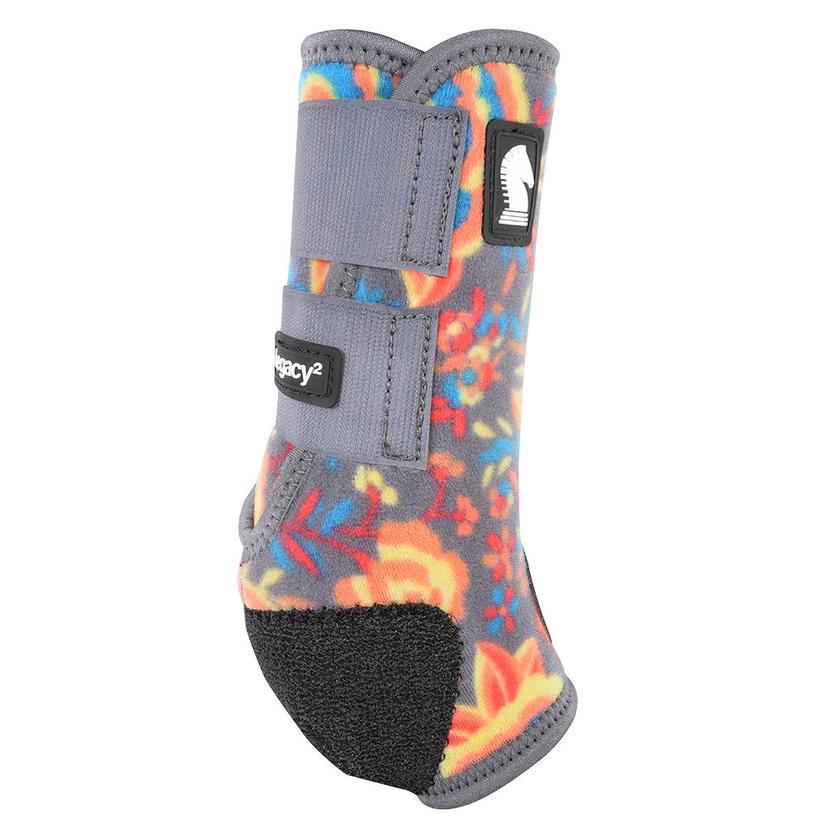 Classic Equine Legacy2 Hind Protective Sport Boots - Wildflower Print