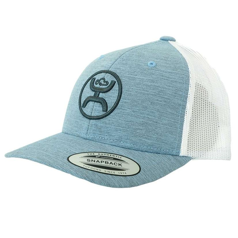 39d2644cf6be3 Hooey Blue Heather and White Meshback Youth Cap