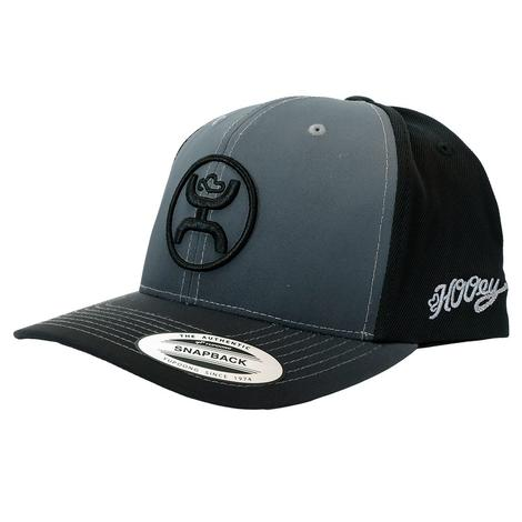 Hooey Black Grey Fader with Round Logo Cap