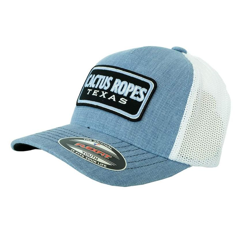 bed2ad47c Cactus Ropes Patch Denim Blue and White Meshback Youth Cap