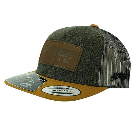 Cactus Ropes Tan Patch Forest Green Meshback Youth Cap