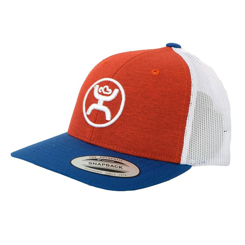Hooey Red White Blue Circle Logo Meshback Youth Cap