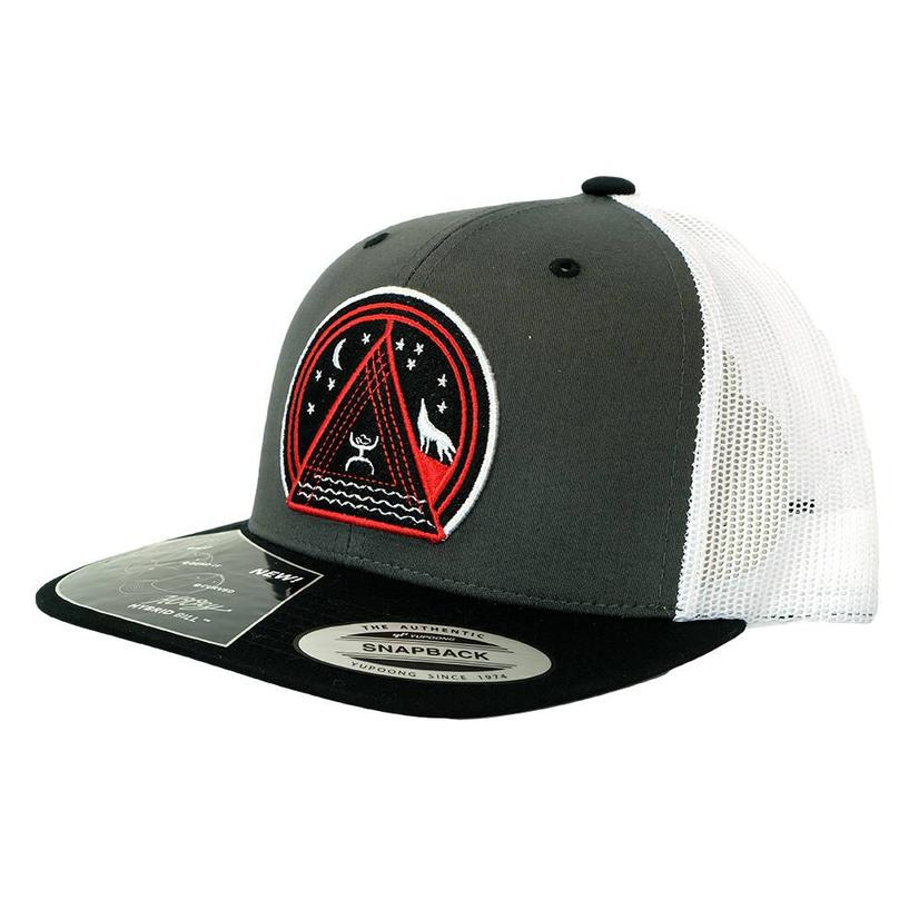 Hooey Music High Profile Grey Red White Meshback Cap