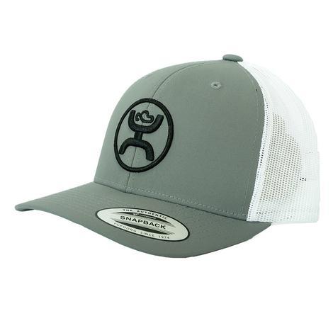 Hooey Black Brand Grey White Meshback Cap