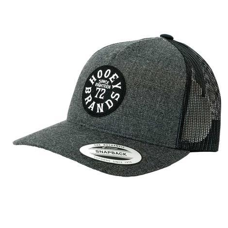 Hooey 72 Brands Grey Black Meshback Cap