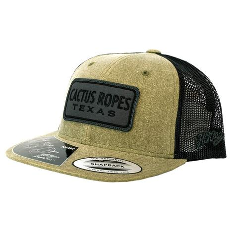 Cactus Ropes Black Patch Brown Black Meshback Youth Cap