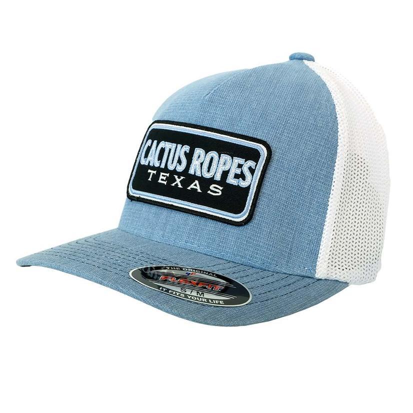 Cactus Ropes Light Blue White Meshback Cap