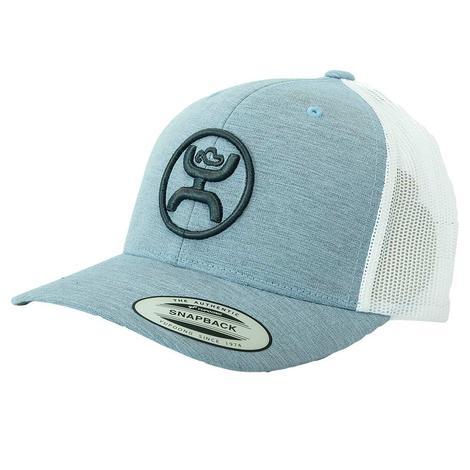 Hooey Circle Brand Light Blue White Meshback Cap