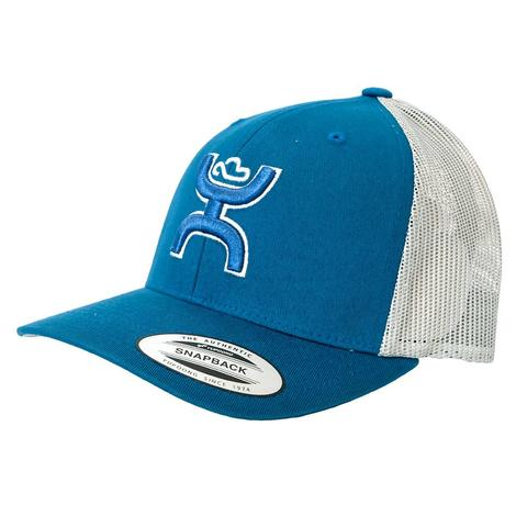 Hooey Sterling Mid Profile PreCurve Pacific Blue White Meshback Cap