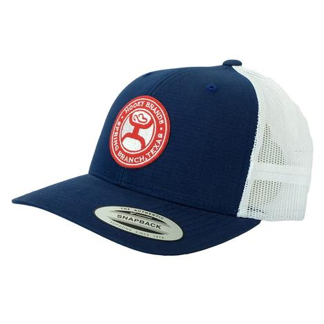 Hooey El Camino RedWhite Brand PreCurve Navy Blue White Meshback Cap