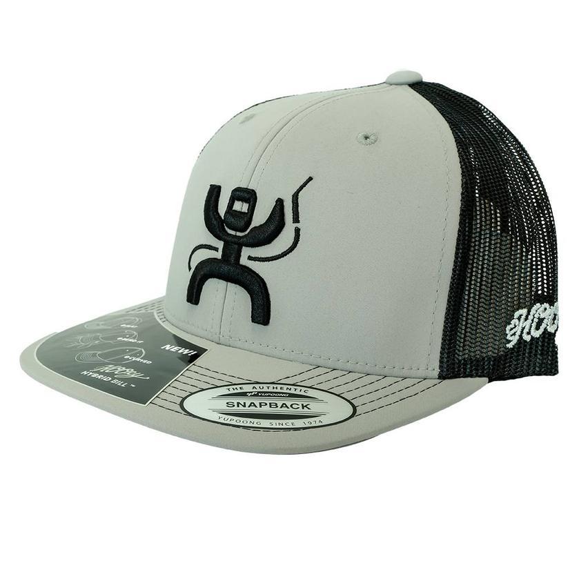 Hooey Grey Black Meshback Snapback Cap