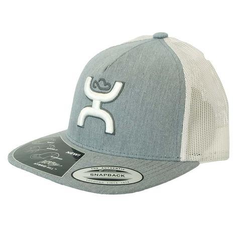 Hooey Cruise Grey White Meshback High Profile Cap