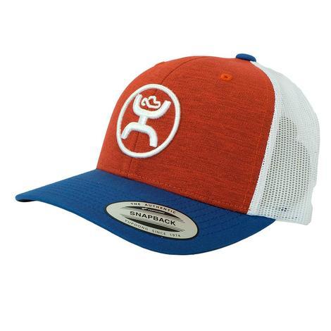Hooey Red White Blue Round Brand Meshback Cap