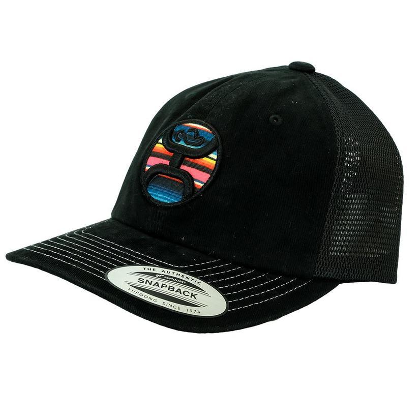 Hooey Serape Brand Black Meshback Cap