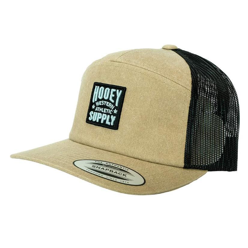 Hooey Supply Tan Black Meshback Snapback Cap