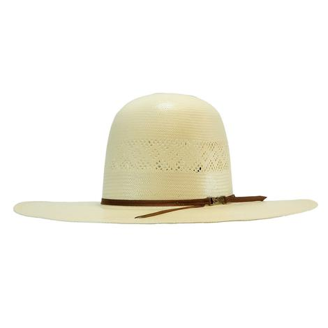 American Hat Company 4.25inch Brim Open Crown with Drilex Band Natural Straw Hat