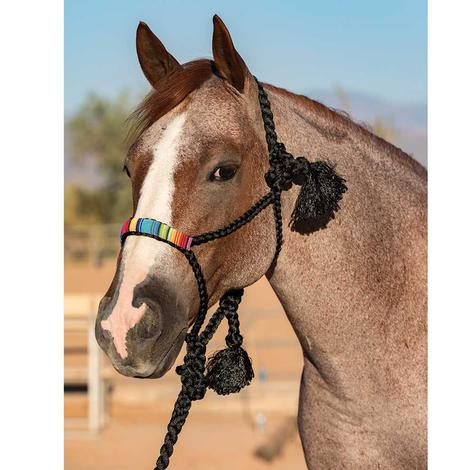 Professional Choice Braided Halter with Serape Beaded Noseband - White or Black