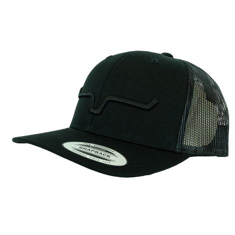 Kimes Ranch Weekly Trucker Black on Black Meshback Cap