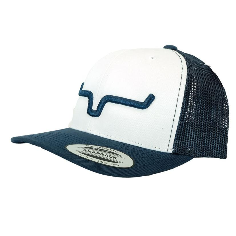 a4668adced4c2 Kimes Ranch Weekly Trucker Reverse Navy Meshback Cap