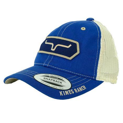 Kimes Ranch Full Stop Vintage Trucker Blue Meshback Cap